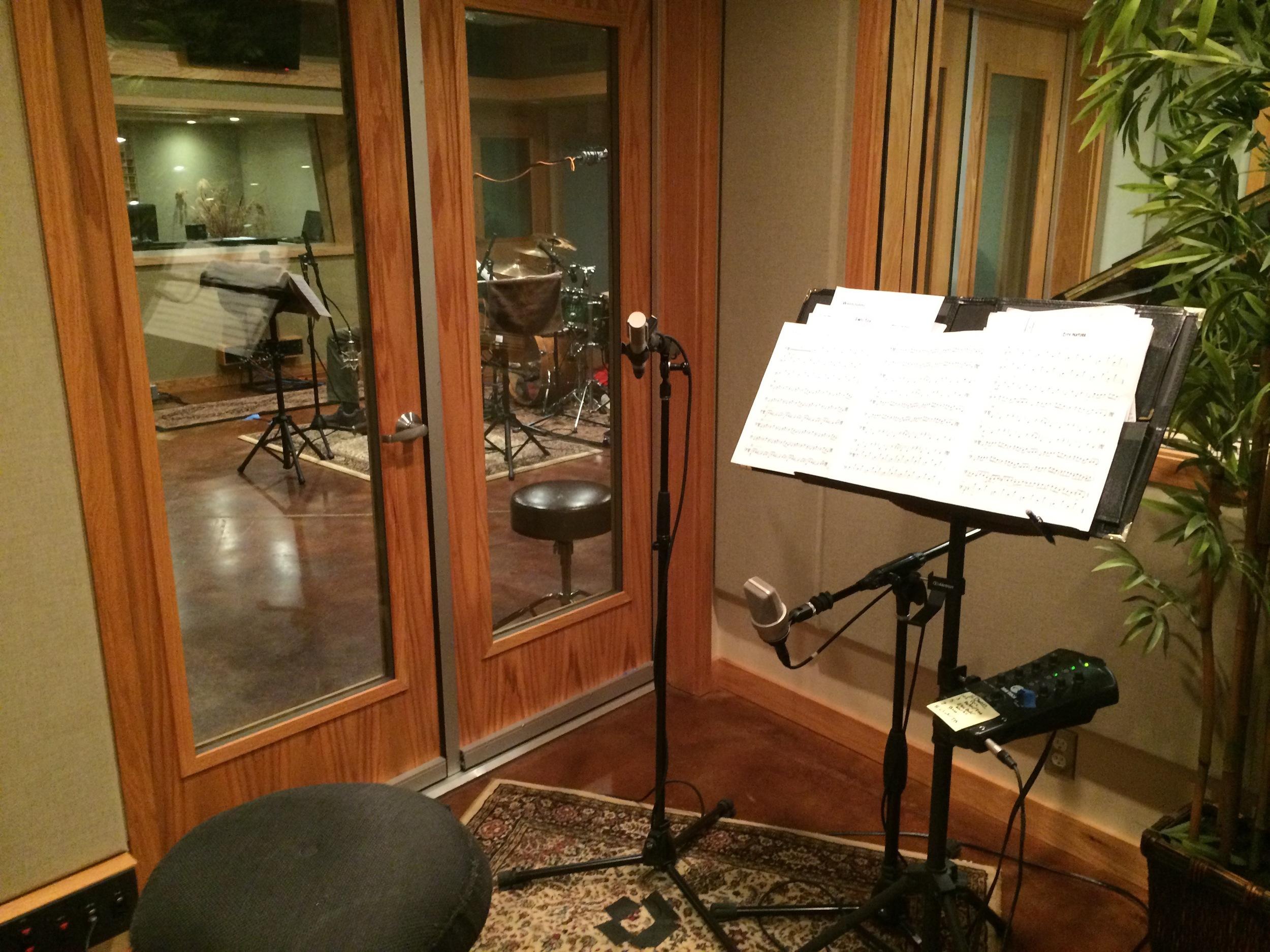 The beautiful  Sound Temple recording studio in Asheville, NC.