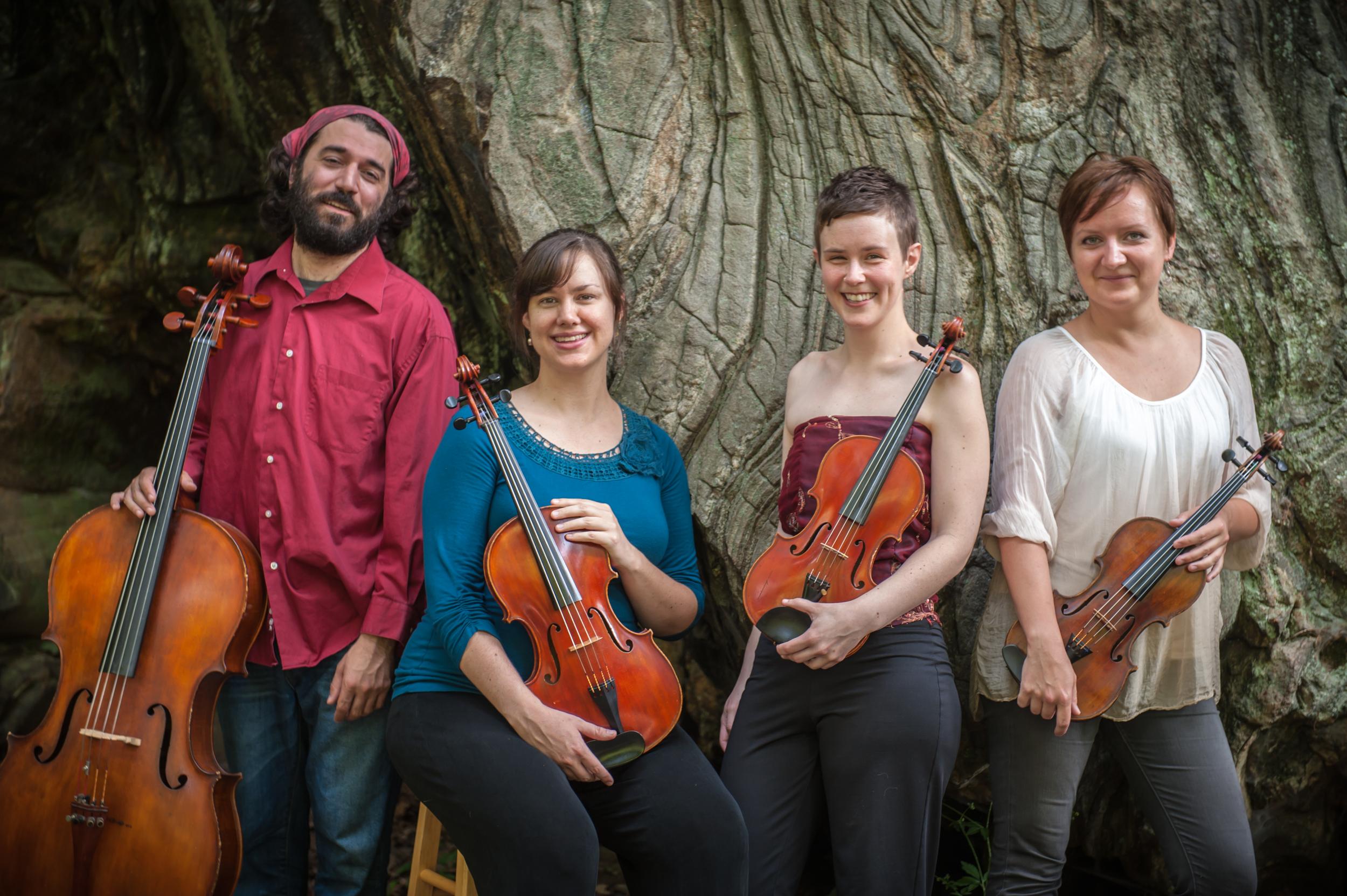 The Opal String Quartet:Franklin Keel-cello, Kara Poorbaugh-viola,Ginger Kowal-violin,Mariya Potapova-violin.