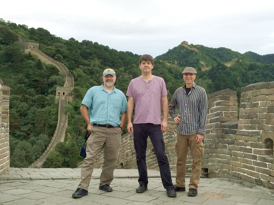 Free Planet Radio China Tour 2016. L to R Eliot, Chris Rosser, River Guerguerian
