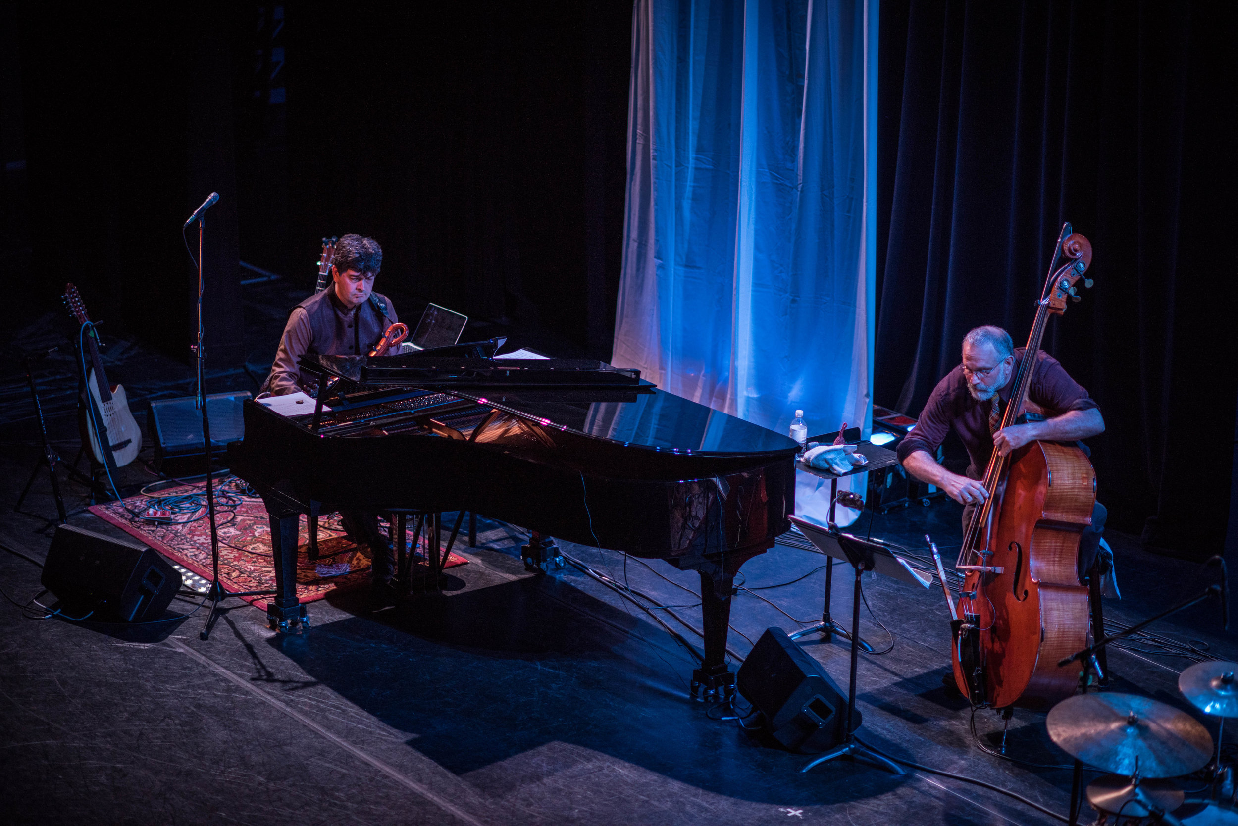 Chris Rosser-piano, Eliot Wadopian-double bass. Free Planet Radio, Diana Wortham Theatre May 2017