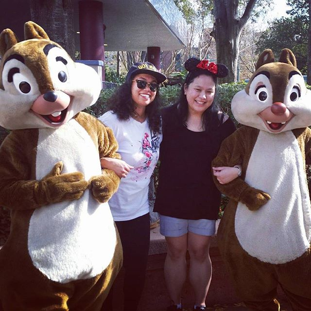 Out on the town 🐿🐿 #baes #chip #dale
