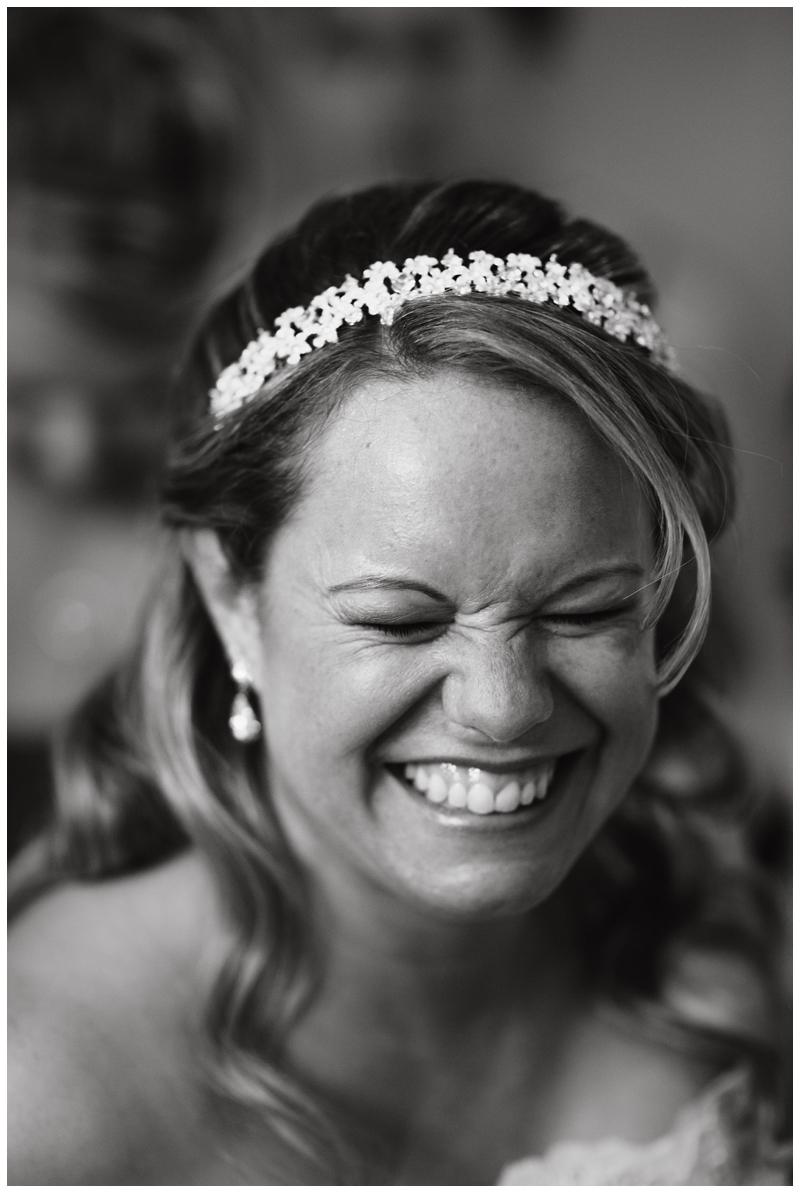 Black and white bride