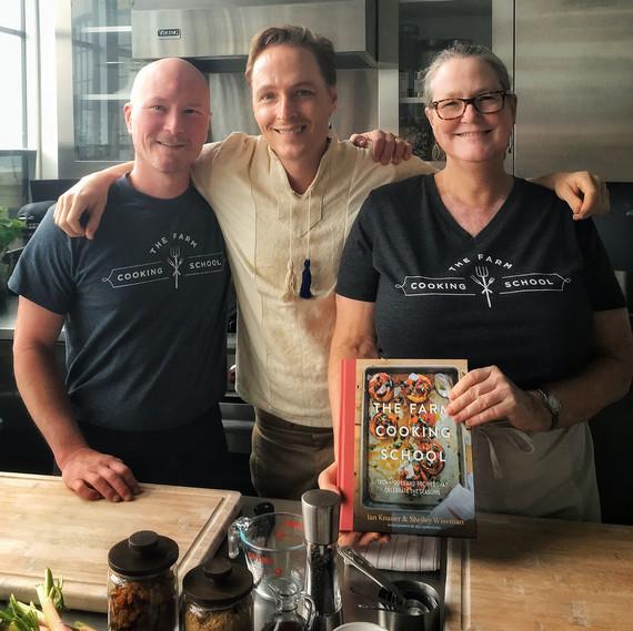 "MarthaStewart.com - Ian & Shelley join their dear friend and Martha Stewart Test Kitchen Director, Greg Lofts, in the kitchen!  "" It's Savory Rhubarb & Old Friends in the Kitchen This Week "", May 30, 2018"