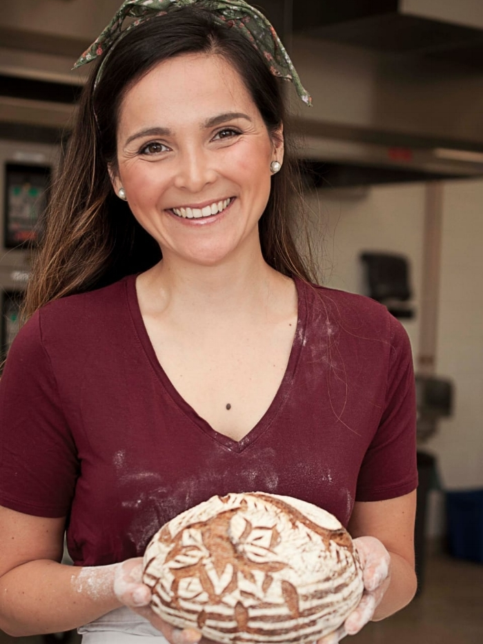 "Javiera Montoya   Javiera´s Chilean heritage and bread tradition got her to move from the corporate world into the bread baking craft, with the dream of teaching people how to bake and eat authentic bread. She moved in 2017 to Pennsylvania from Chile and graduated  Top of Class  from the International Bread Baking Program at the International Culinary Center in New York. Javiera has apprenticed in bakeries in Chile and the US, and has recently opened  Vituperio  a pop-up Bakery in Montgomery County, PA.  ""In Chile, fresh bread is part of everyday life, it's involved in every meal and gathering; bread is a revolution; it's about letting go of preconceptions so this old craft can come back to life!"""