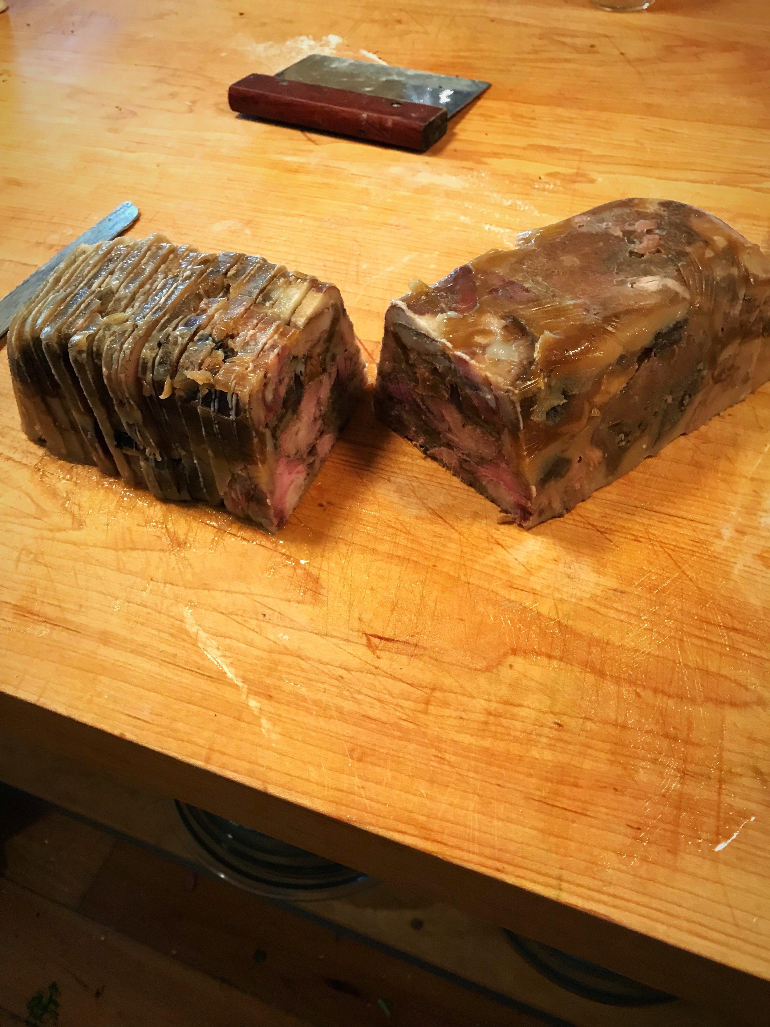 Unmolded Headcheese