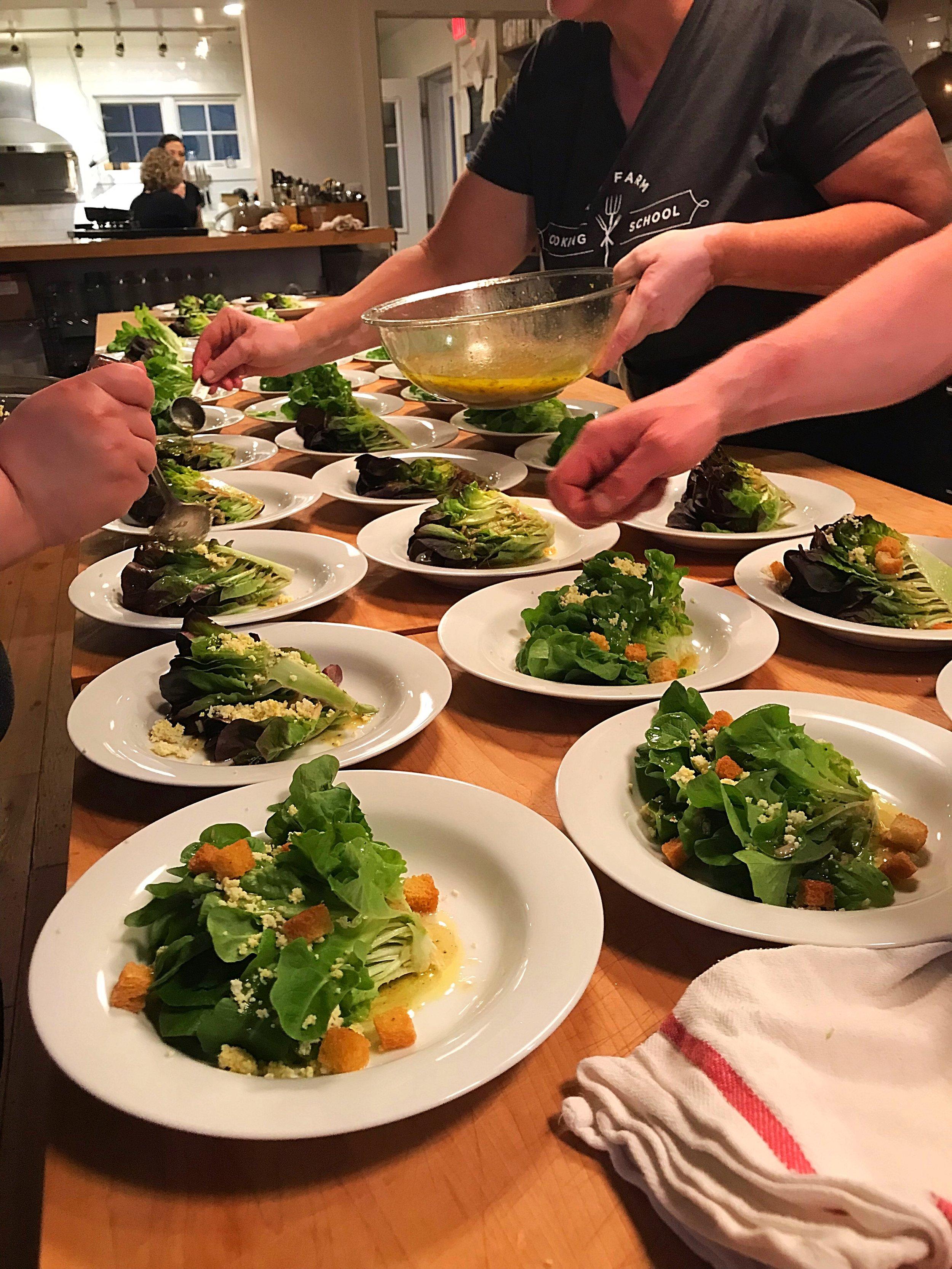 Gem Lettuce Salad with Sieved Egg
