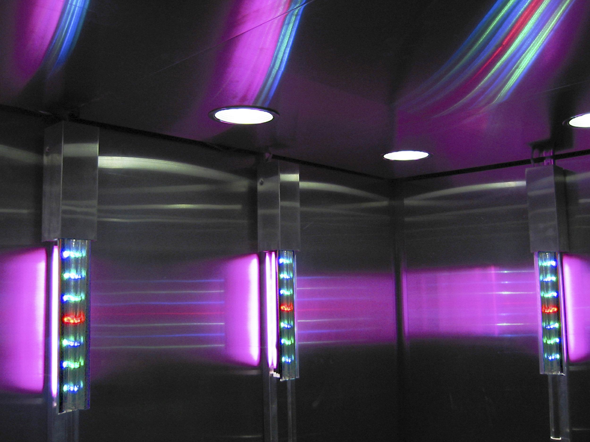 Luminous Layers Elevator Installation (2004)