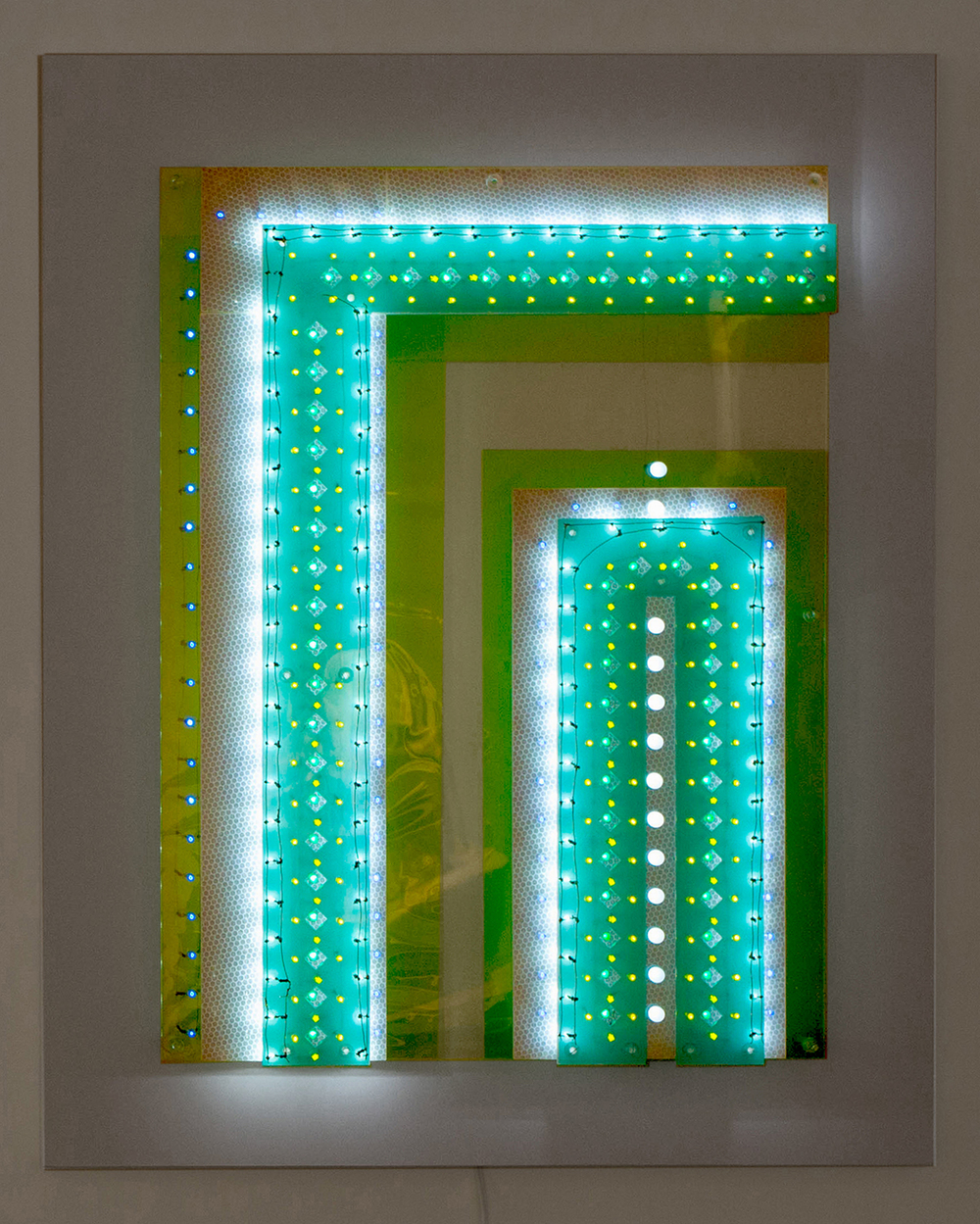 Carol Salmanson_Fragmentary Evidence_Blue_Green_29%22Hx23%22Hx3.5%22D_plus_Sintra_backing_2014.jpg