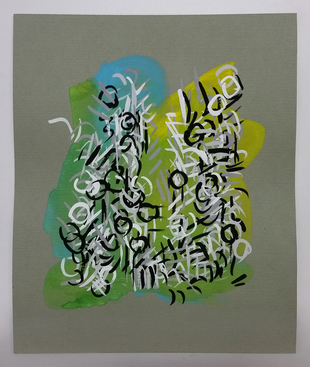 Radiations Series 1, Drawing 13 (Blue Green Yellow)