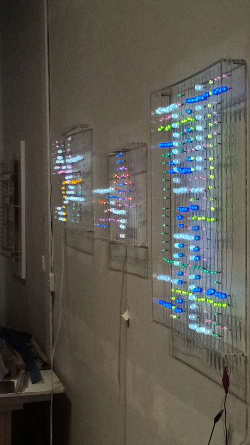 Side view of installation
