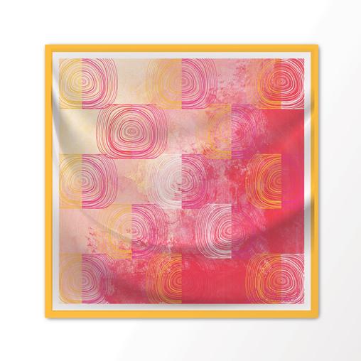 "New Scarf Design ""Liza Lou"" in Tangerine, 100% Silk 36"" x 36"" square"