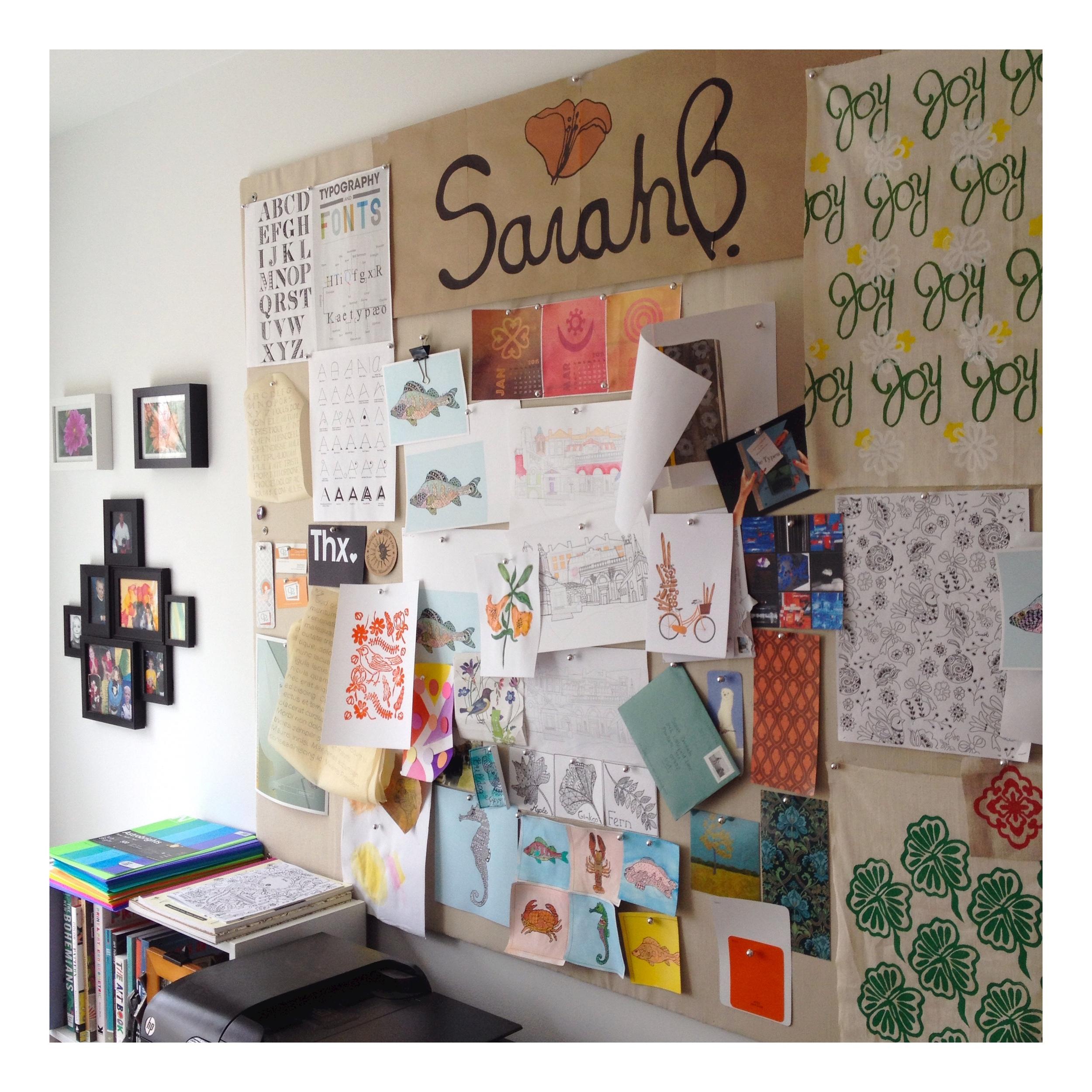 Mood board and inspiration wall