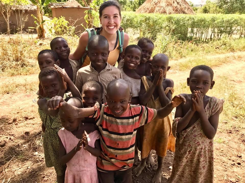 Village Children w/visitor