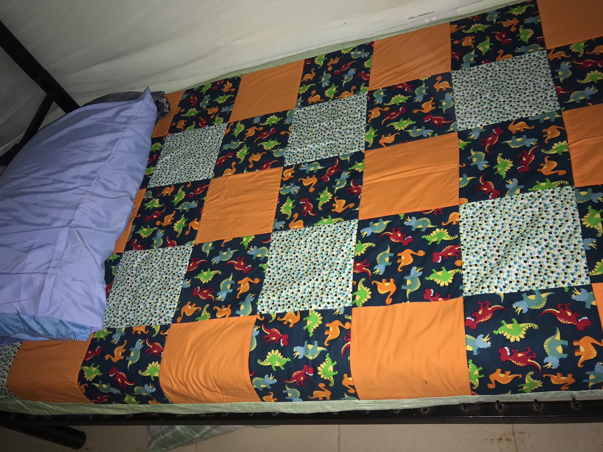 New Bed, Bedspread made by donor