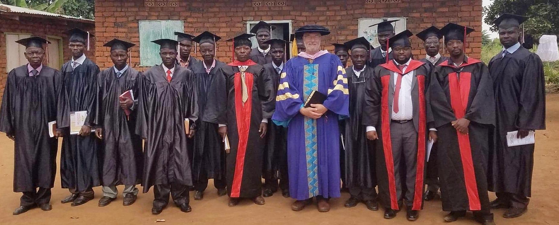 Graduating Class, July 2018, with Dr. Bob Barton, USA