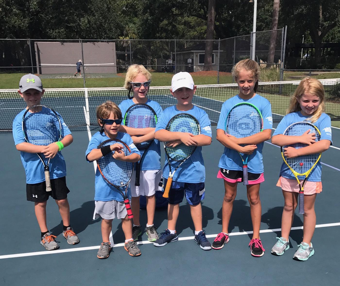 JUNIOR FUTURE STARS - Ages 6-10Our goal with this program is to start you child in the lifetime sport of tennis in a fun, positive, active, and safe environment where they can excel in age appropriate games and drills. Our programs will provide expert instruction that simplifies the game of tennis so your child will love it and enjoy the sport from the first day they step out on the tennis court.Your child will be encouraged to play the game and be on a team!