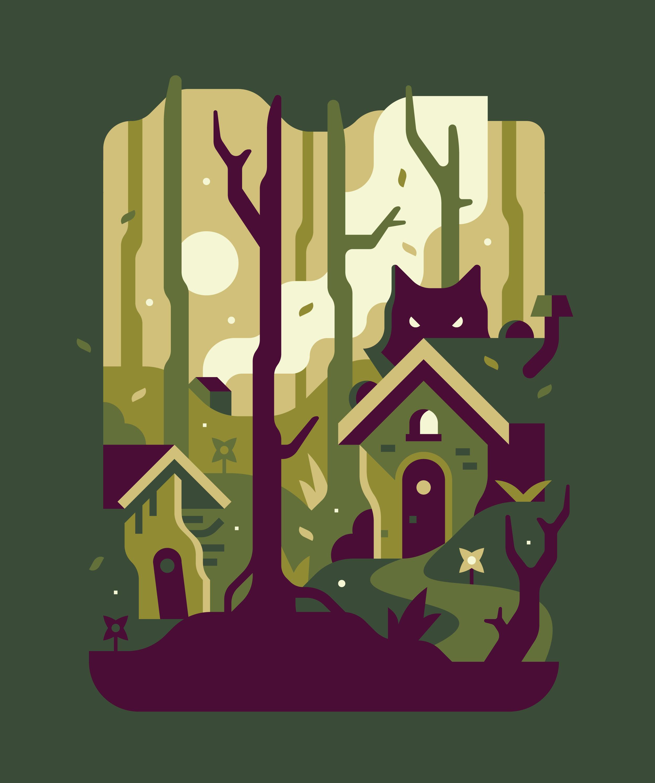Fandom Dark Fairytales Three Little Pigs illustration. Series by Matt Anderson and Canopy Design and Illustration.