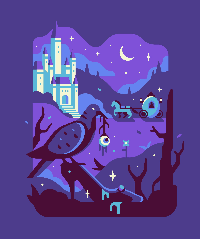 Fandom Dark Fairytales Cinderella illustration. Series by Matt Anderson and Canopy Design and Illustration.