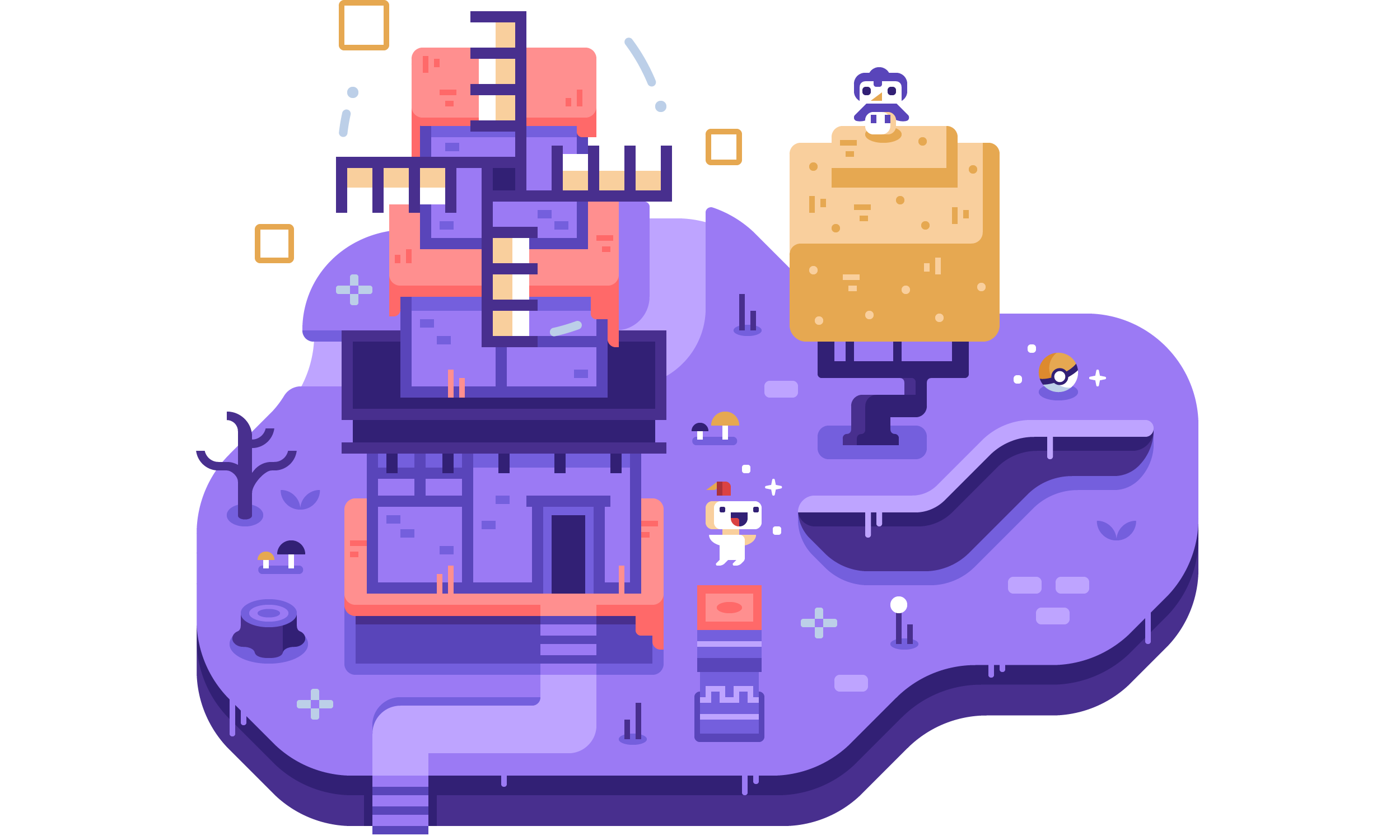 Fez Discord Dioramas illustrations by Matt Anderson and Canopy Design and Illustration