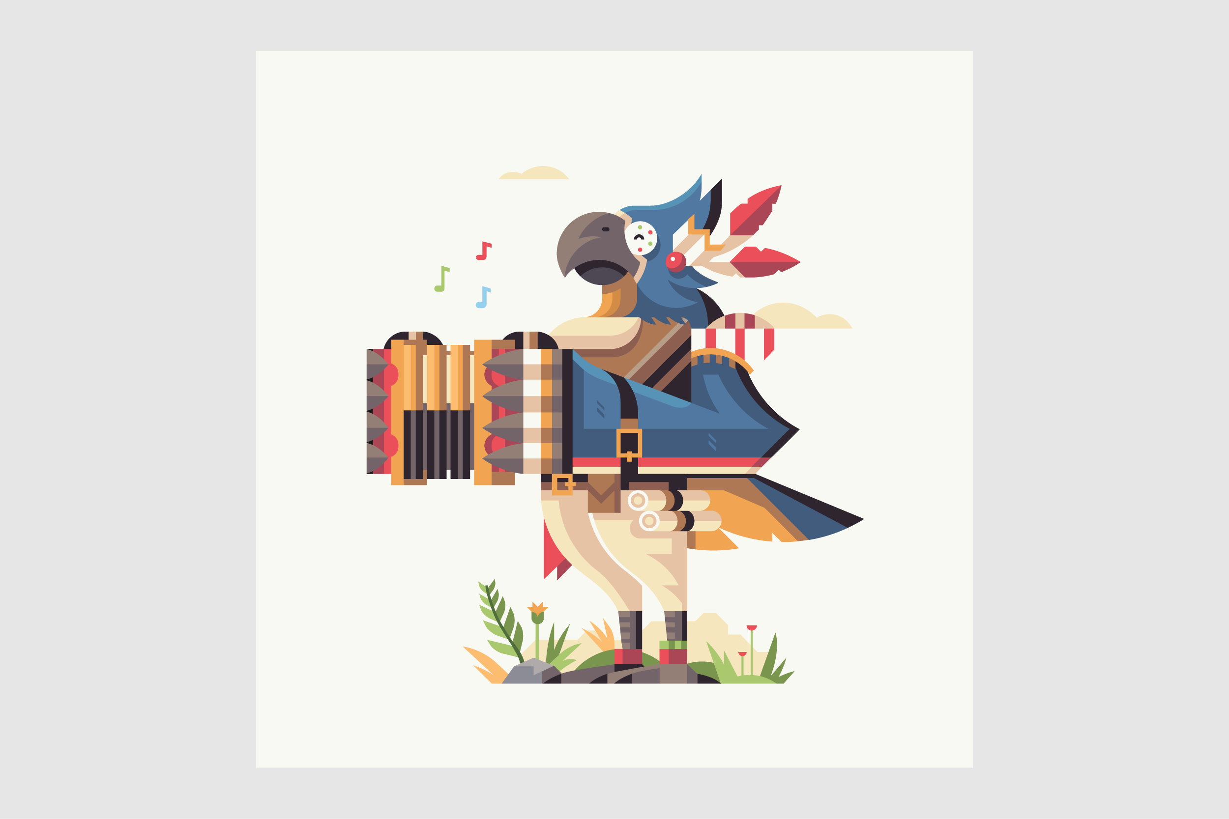 Wild series by Matt Anderson. Inspired by Zelda Breath of the Wild. Feathered Bard (Kass).