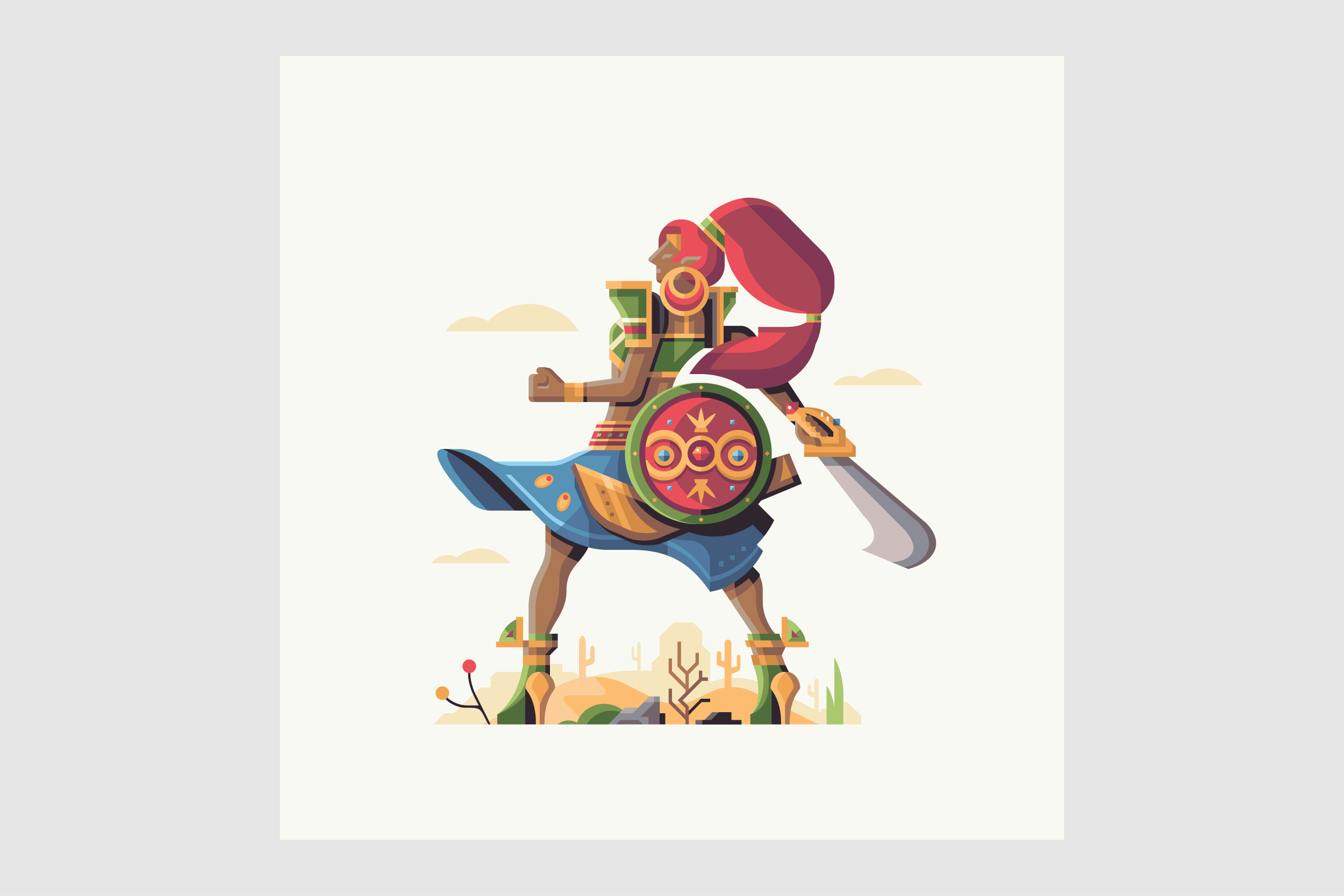 Wild series by Matt Anderson. Inspired by Zelda Breath of the Wild. Champion of the Desert (Urbosa).