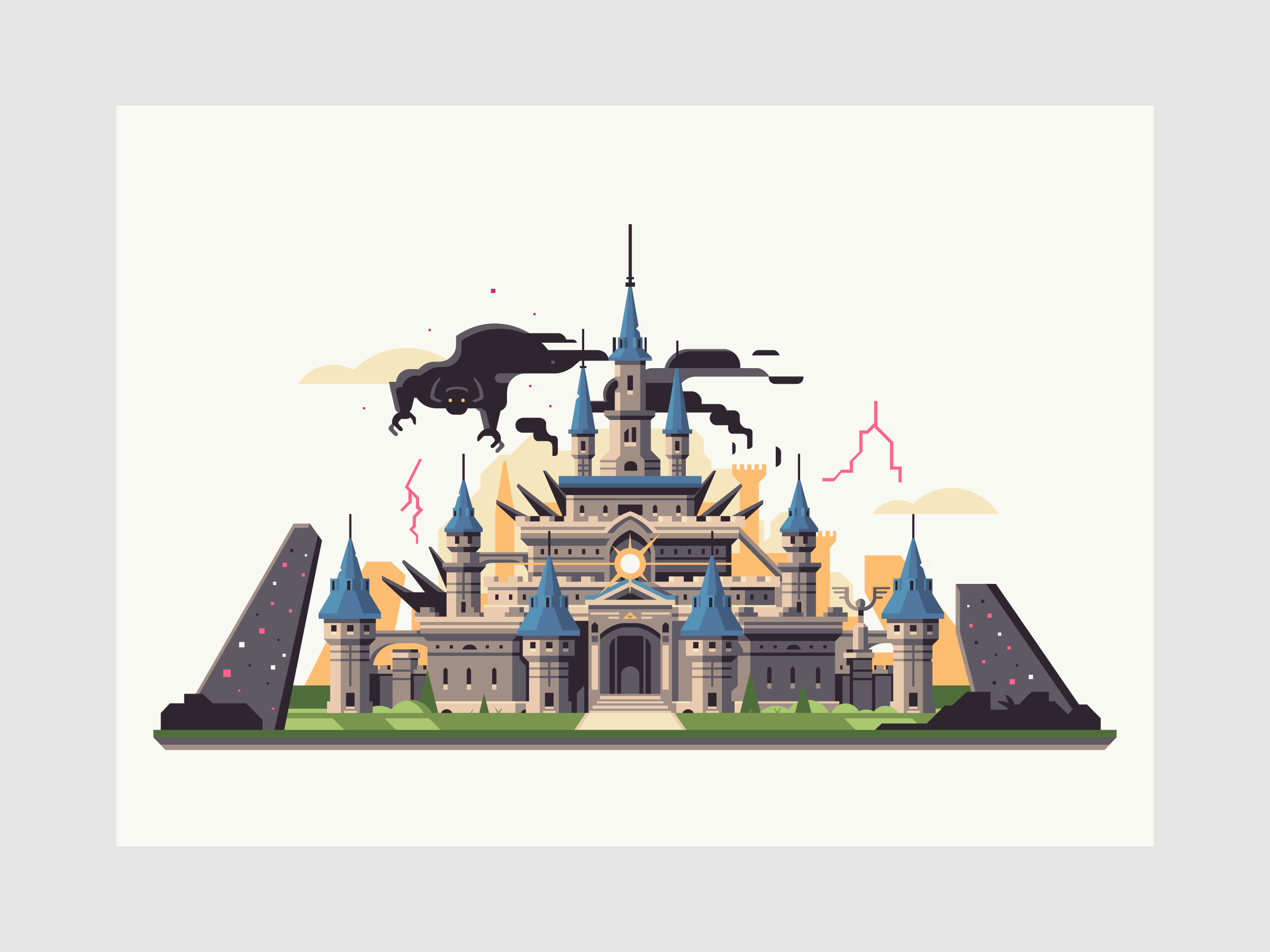 Wild series by Matt Anderson. Inspired by Zelda Breath of the Wild. Corrupted Castle (Hyrule Castle / Calamity Ganon).