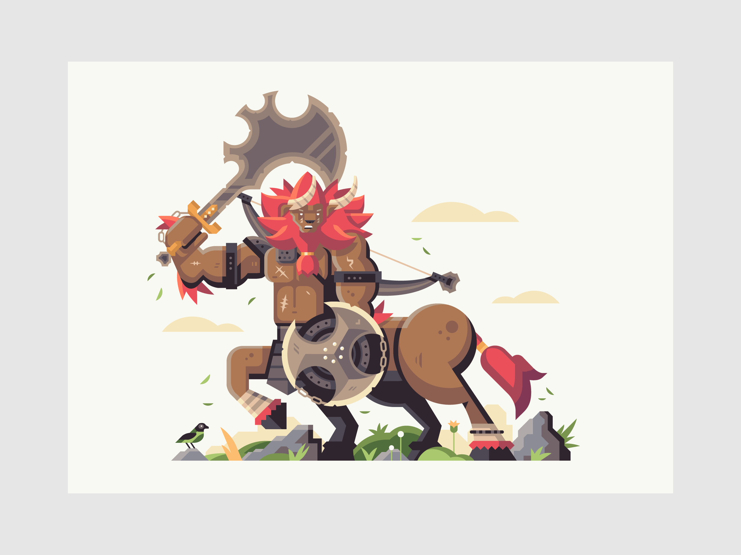 Wild series by Matt Anderson. Inspired by Zelda Breath of the Wild. Savage Beast (Lynel).