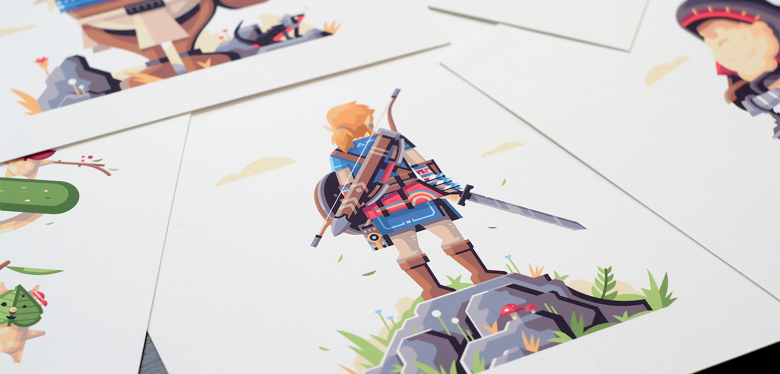 Wild series by Matt Anderson. Inspired by Zelda Breath of the Wild. Header image / detail print photo of Hero of the Wild (Link).