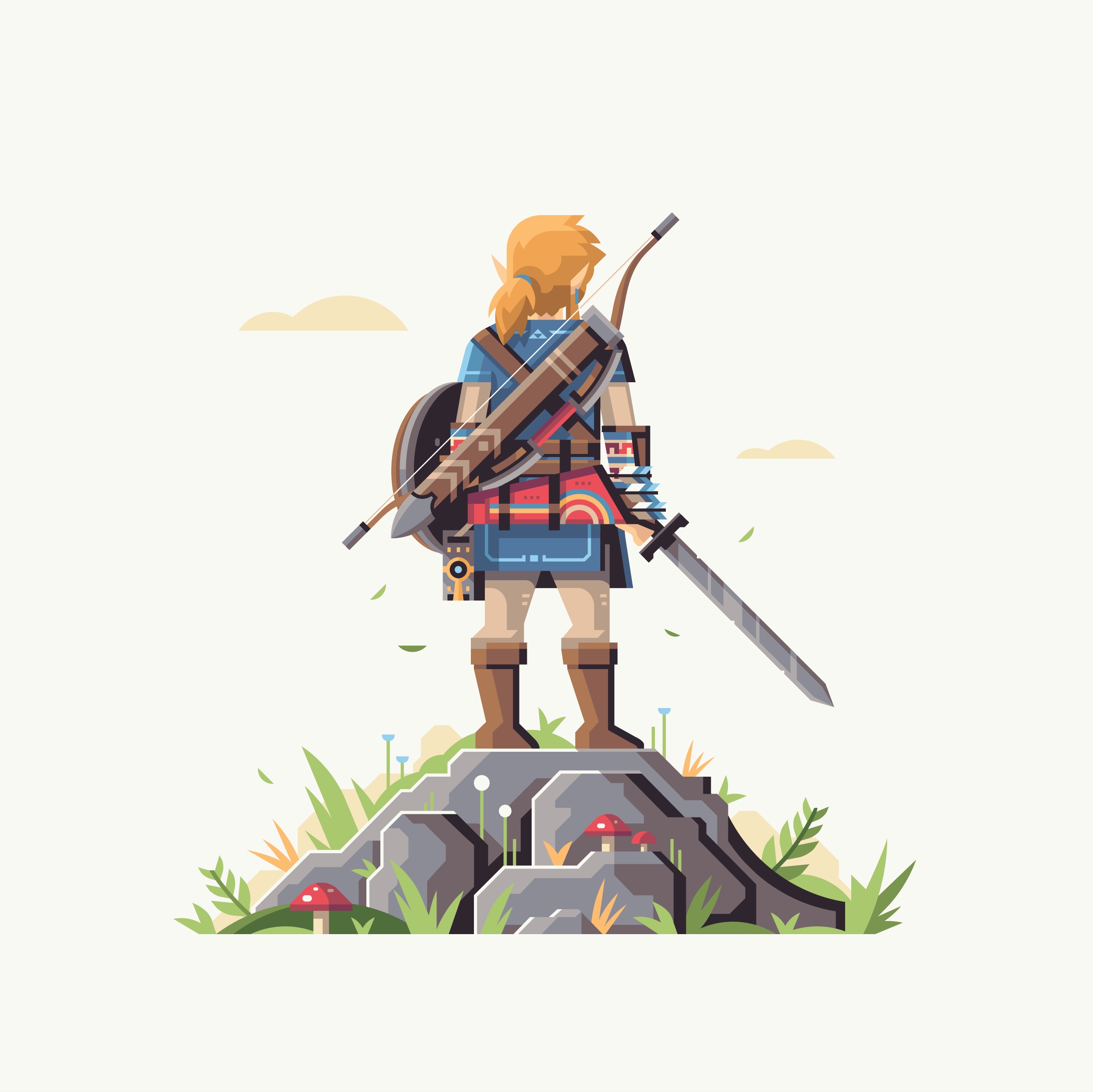 Wild series by Matt Anderson. Inspired by Zelda Breath of the Wild. Hero of the Wild (Link).