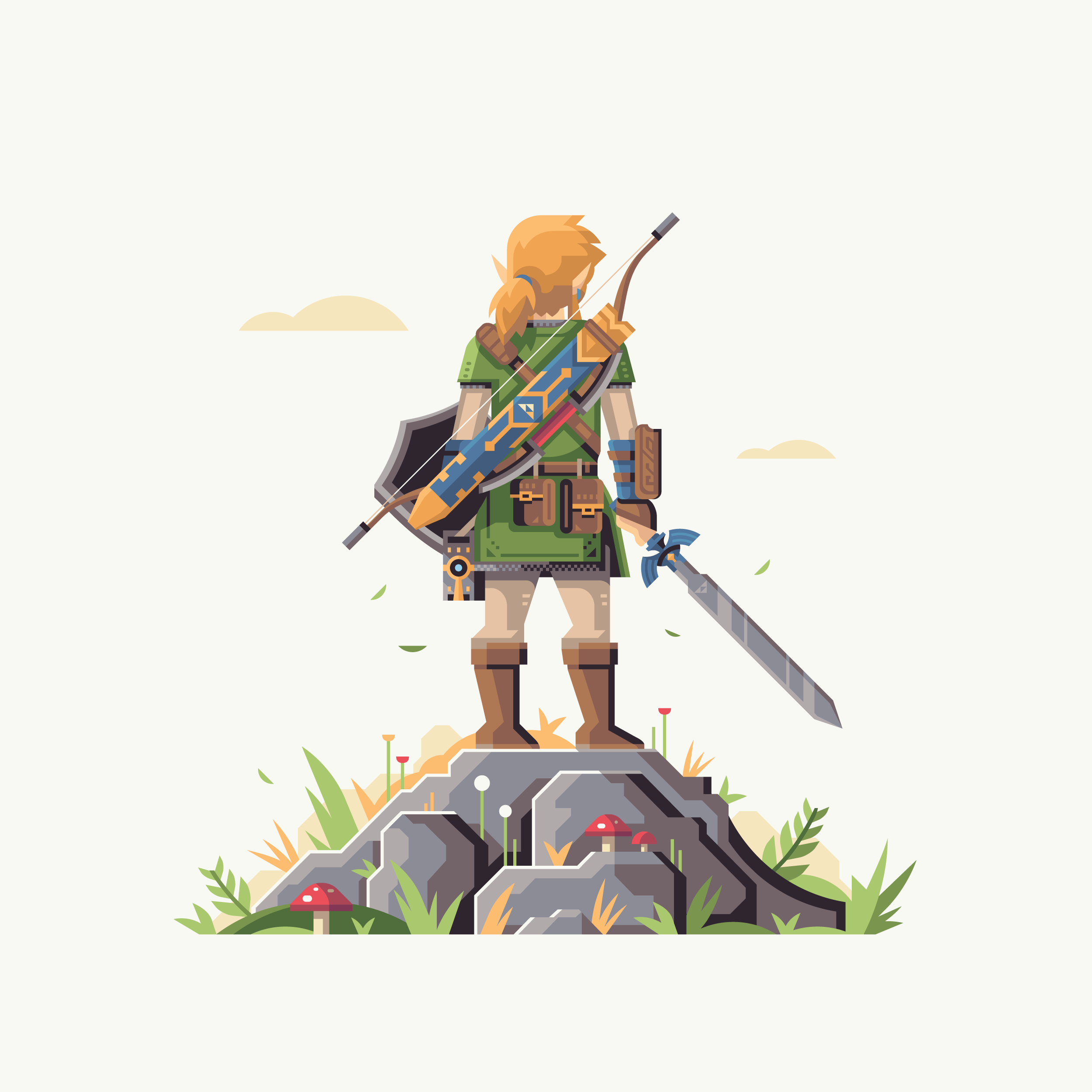 Wild series by Matt Anderson. Inspired by Zelda Breath of the Wild. Master of the Wild (Link).