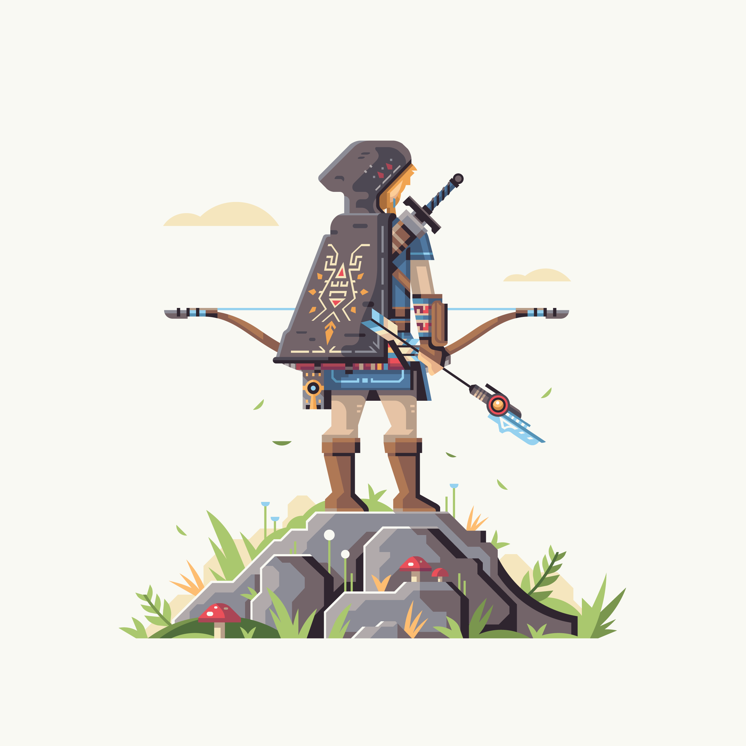 Wild series by Matt Anderson. Inspired by Zelda Breath of the Wild. Hunter of the Wild (Link).
