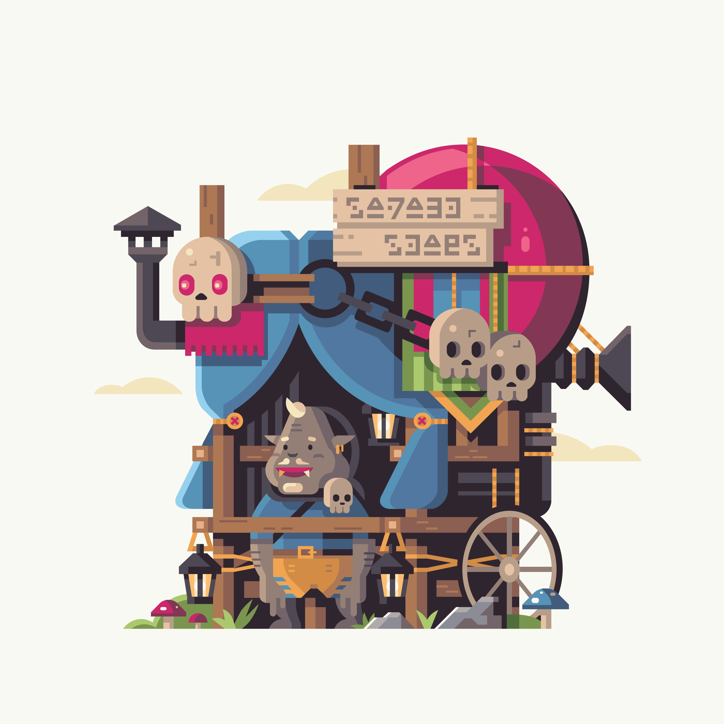 Wild series by Matt Anderson. Inspired by Zelda Breath of the Wild. Ghastly Salesman (Kilton).
