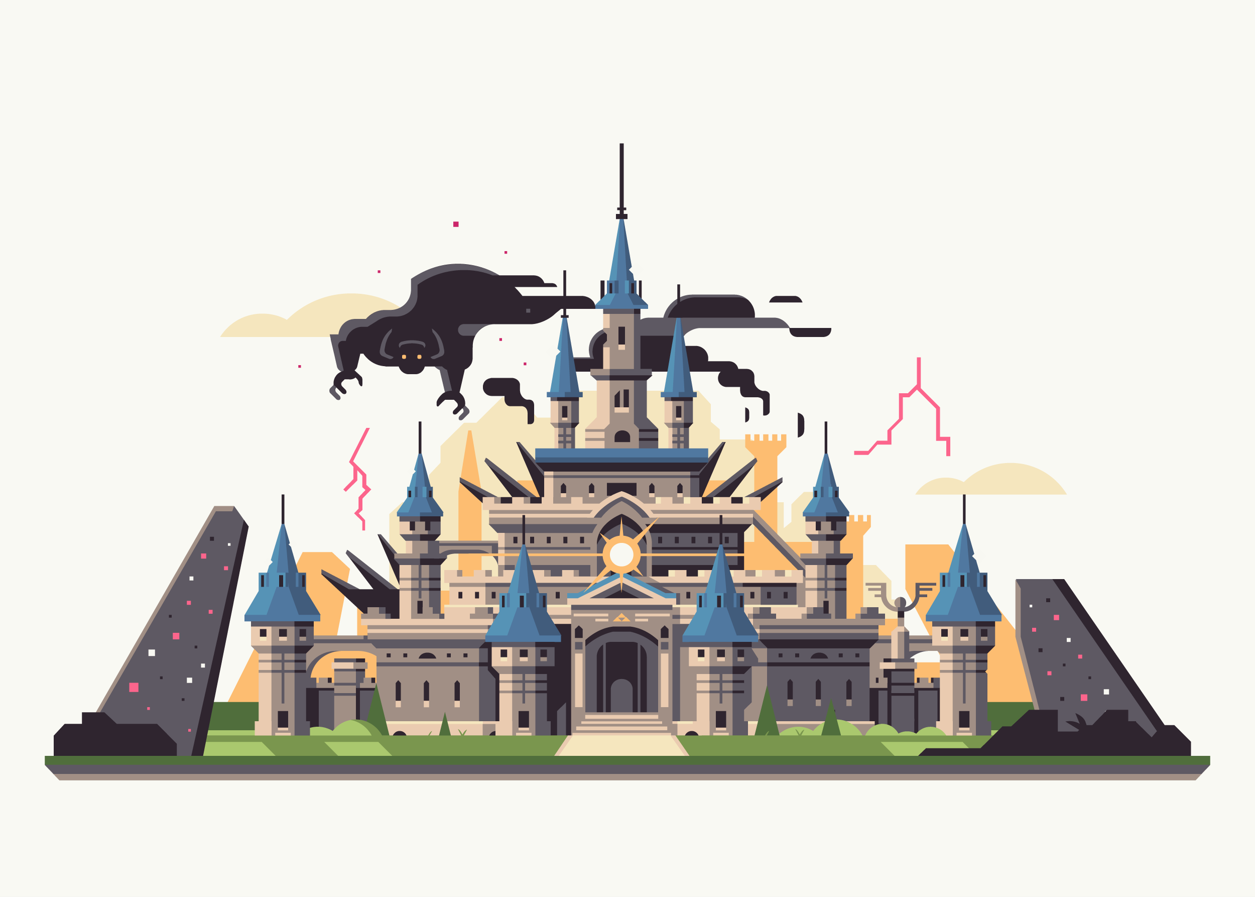 Wild series by Matt Anderson. Inspired by Zelda Breath of the Wild. Corrupted Castle / Hyrule Castle / Calamity Ganon.