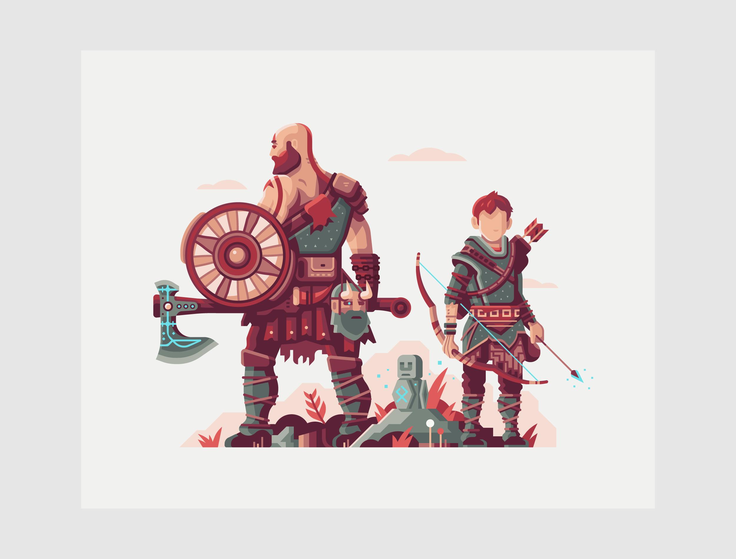 Warriors of Midgard by Matt Anderson. Inspired by God of War (2018).