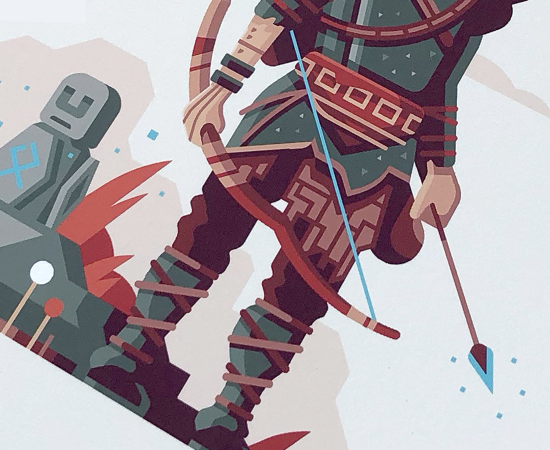 Warriors of Midgard detail print photo by Matt Anderson. Inspired by God of War (2018).