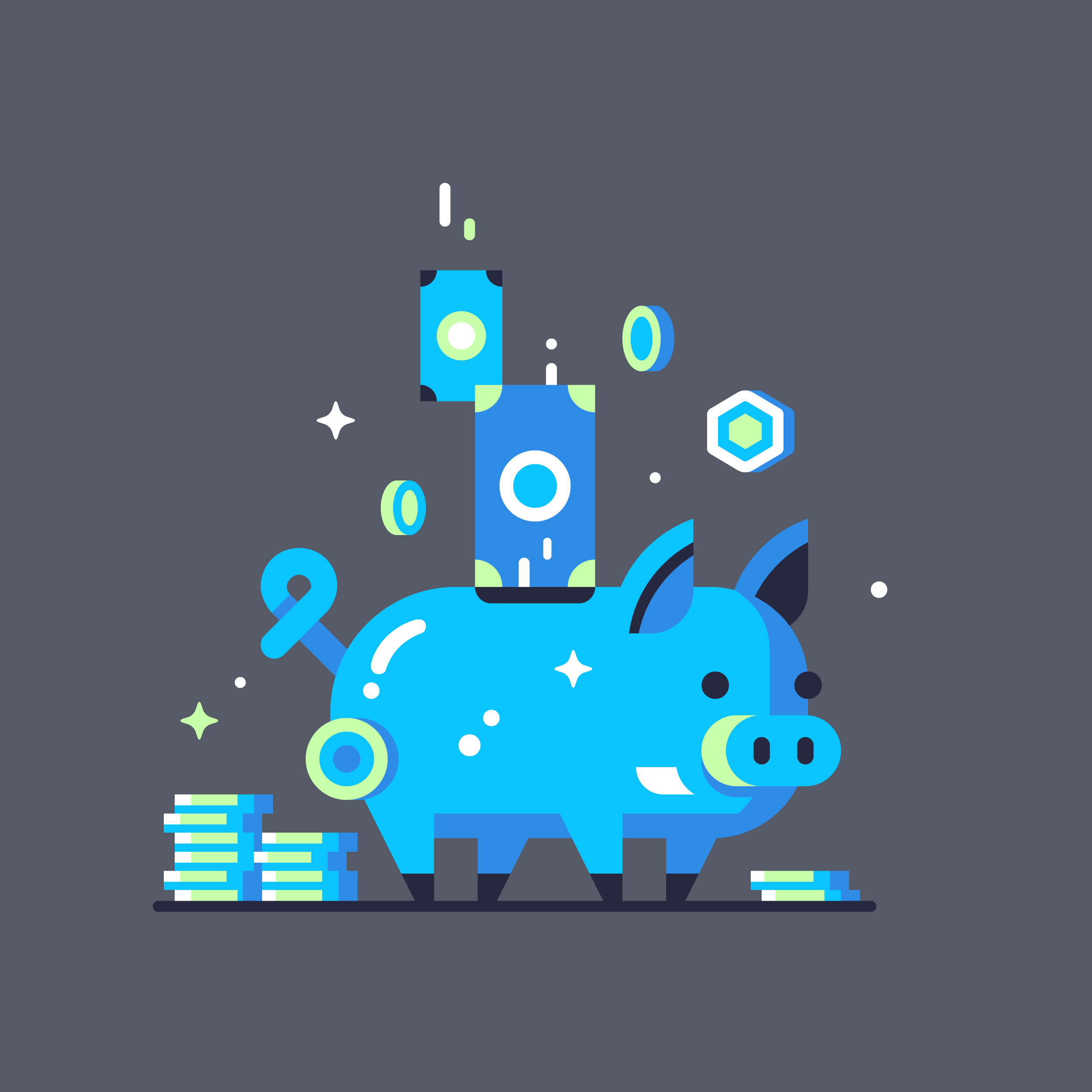 Ui8 piggy bank Illustration designed by Matt Anderson.