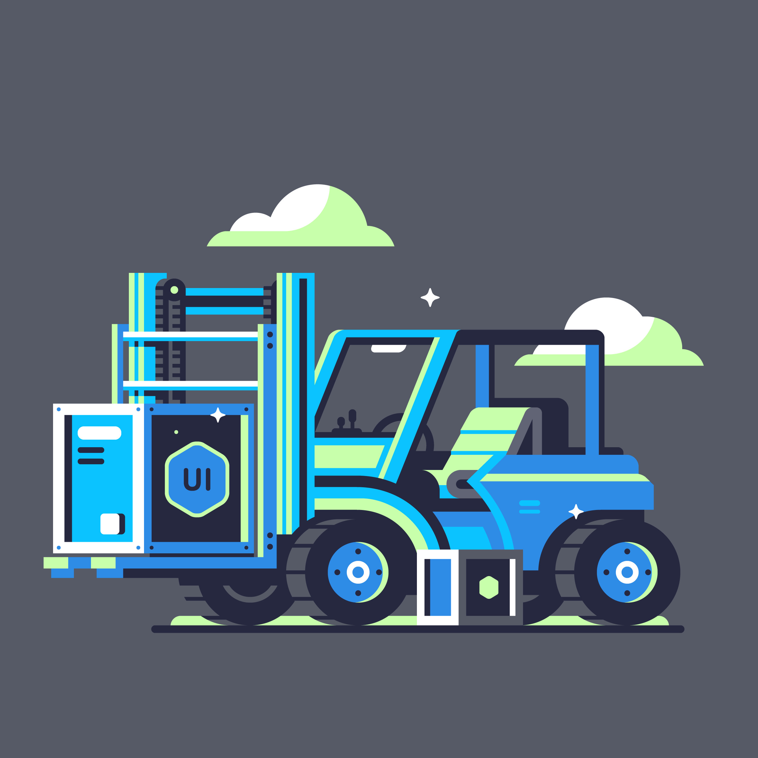 Ui8 forklift Illustration designed by Matt Anderson.