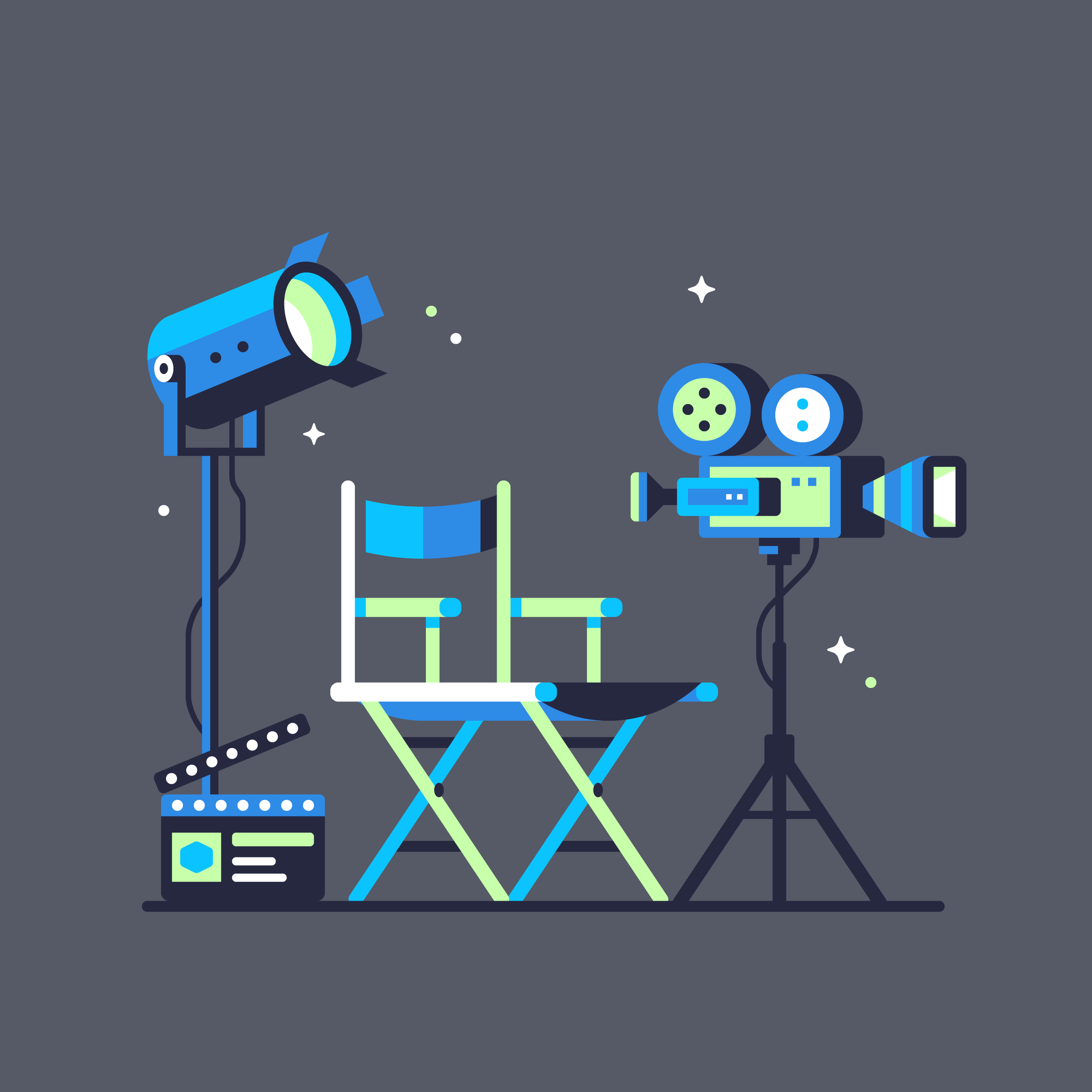 Ui8 cinema Illustration designed by Matt Anderson.