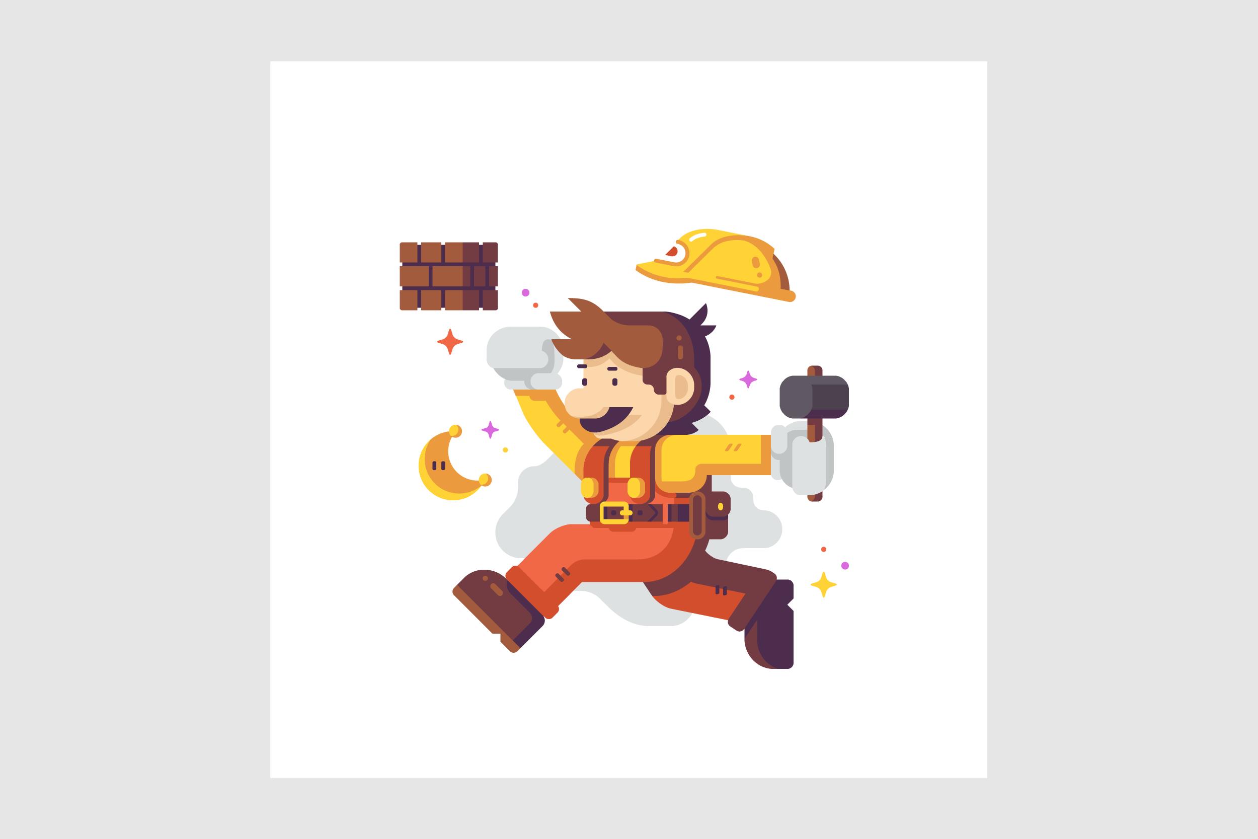 Jump Man Builder by Matt Anderson. Inspired by Super Mario Odyssey.