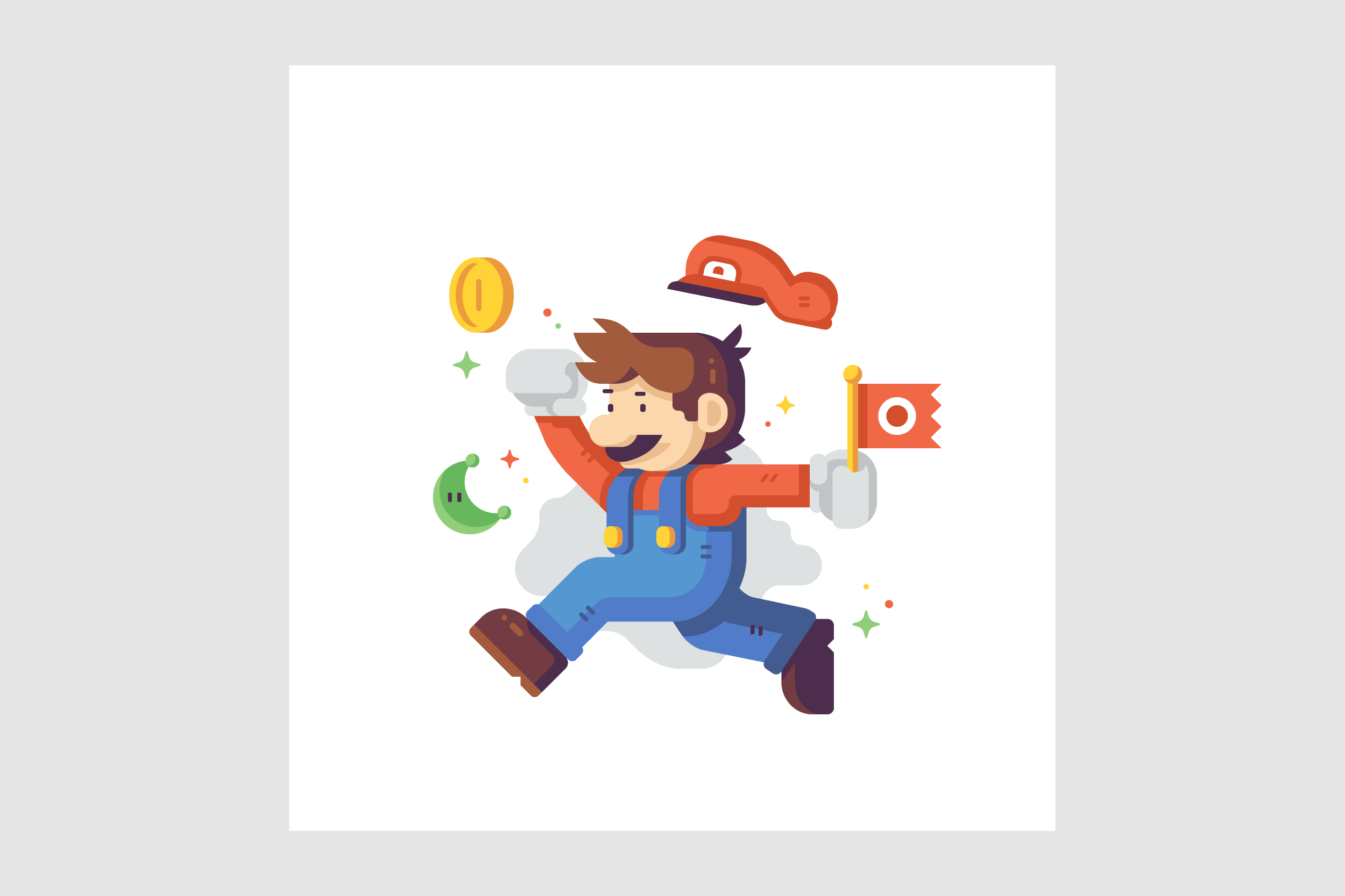 Jump Man Plumber by Matt Anderson. Inspired by Super Mario Odyssey.