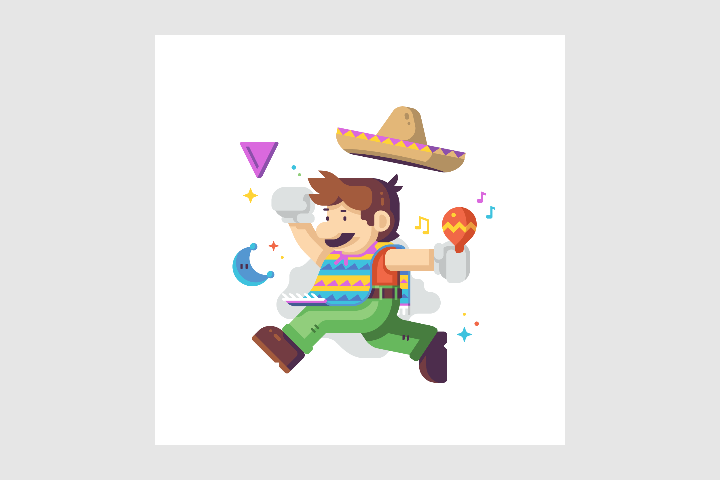 Jump Man Mariachi by Matt Anderson. Inspired by Super Mario Odyssey.