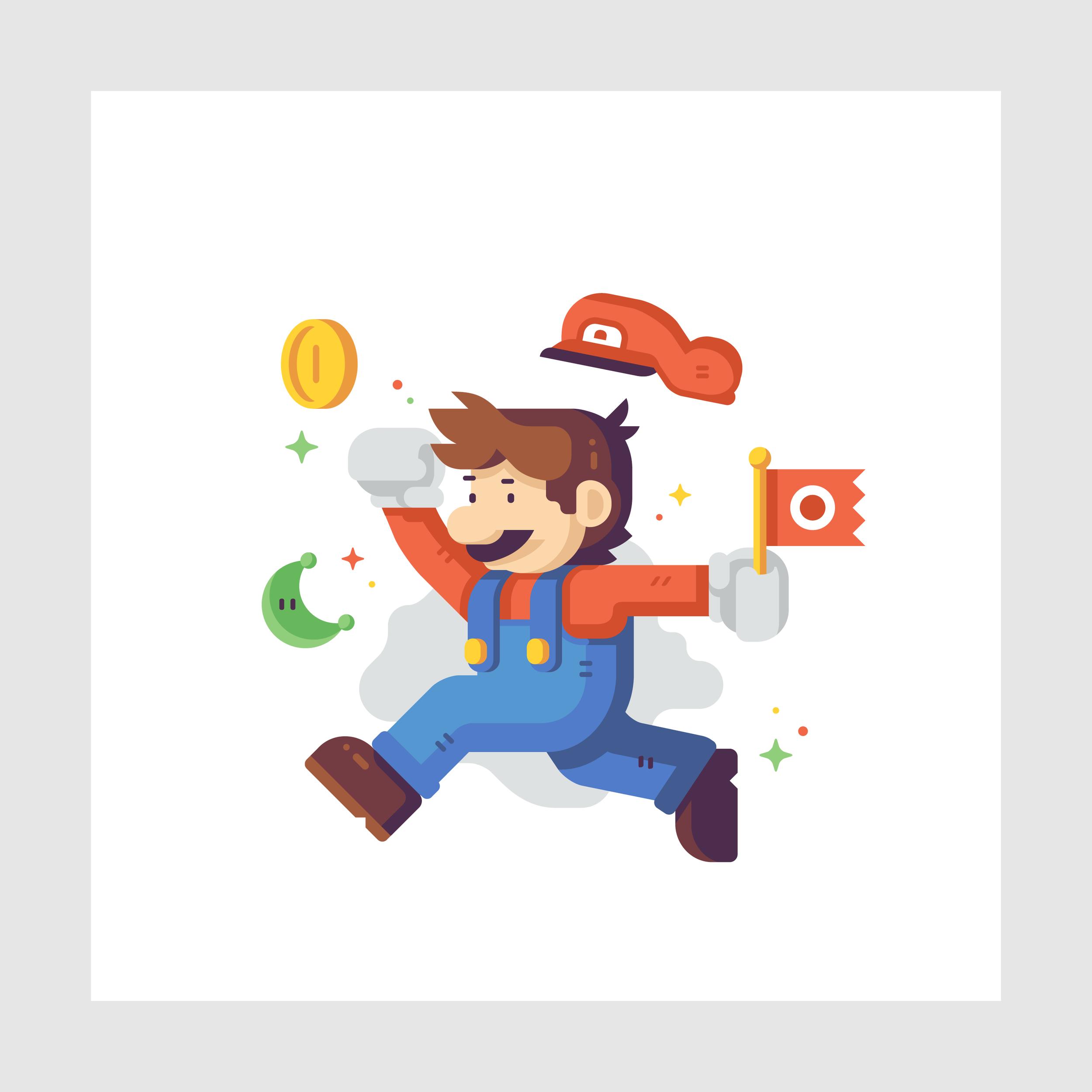 Jump Man Plumber detail Matt Anderson. Inspired by Super Mario Odyssey.