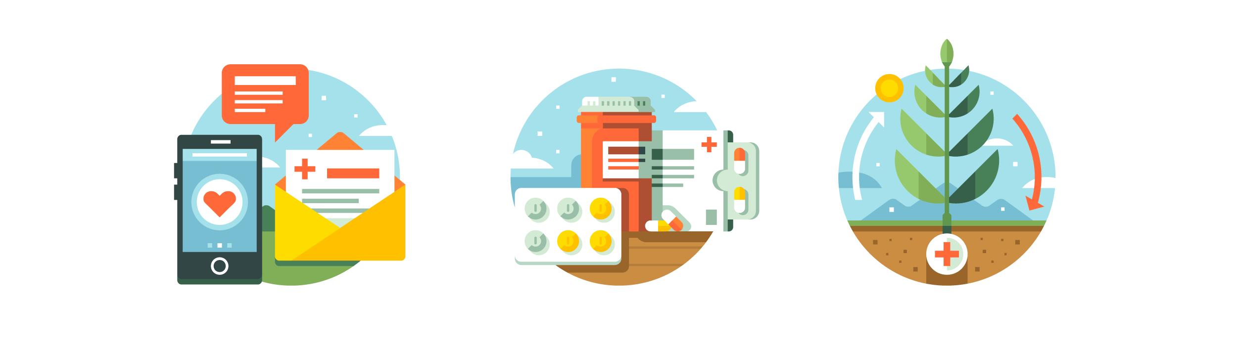 CSS Healthcare Website Illustrations by Matt Anderson - Healthcare Spot Illustrations