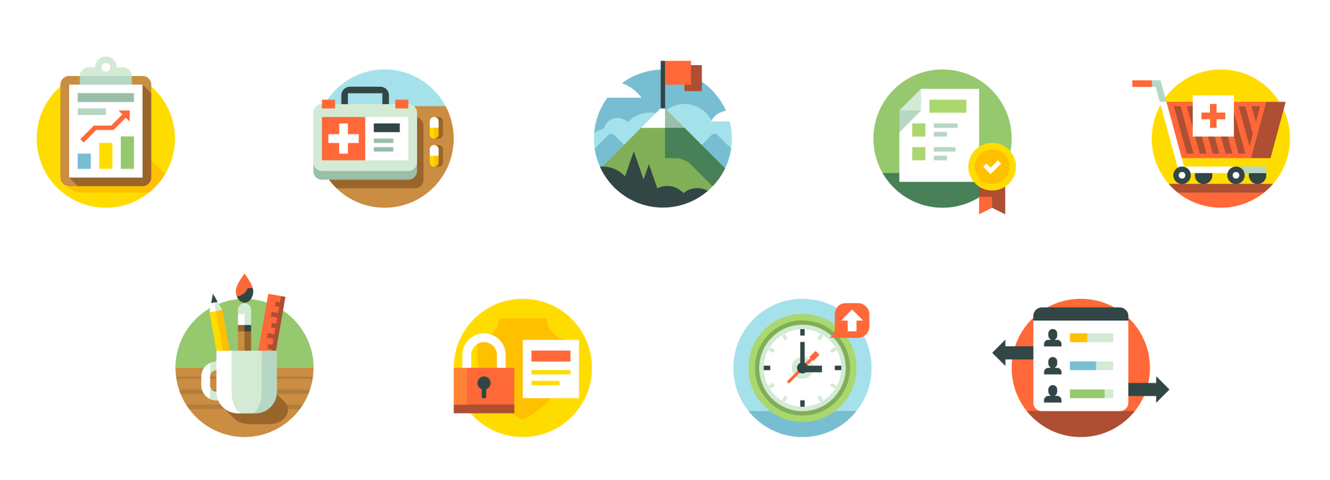 CSS Healthcare Website Illustrations by Matt Anderson - Healthcare Icons