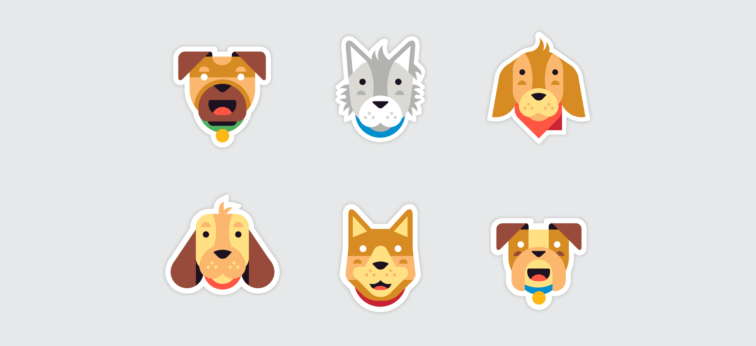 Kik Emoji Collections by Matt Anderson - Dogs