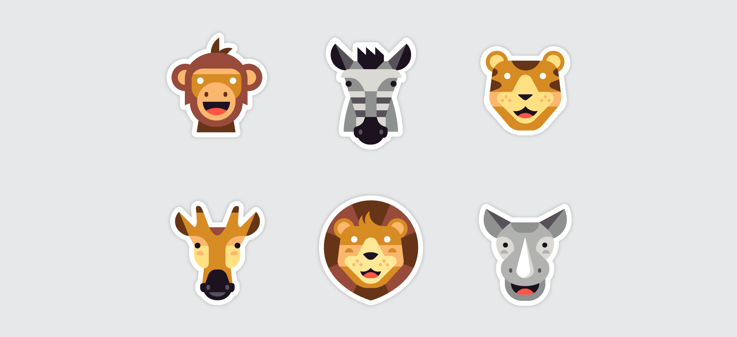 Kik Emoji Collections by Matt Anderson - Safari Animals