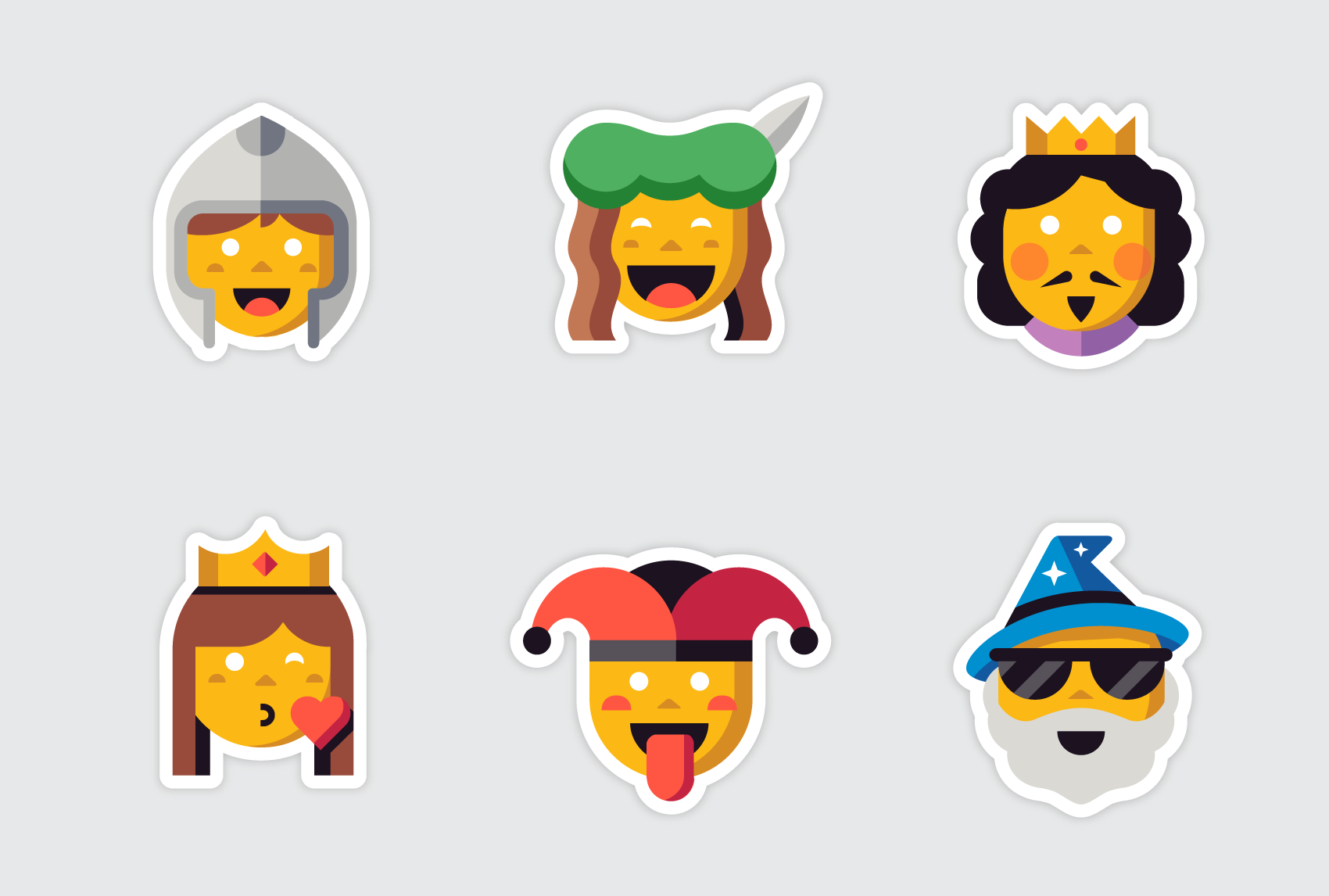 Kik Emoji Collections by Matt Anderson - Medieval Characters