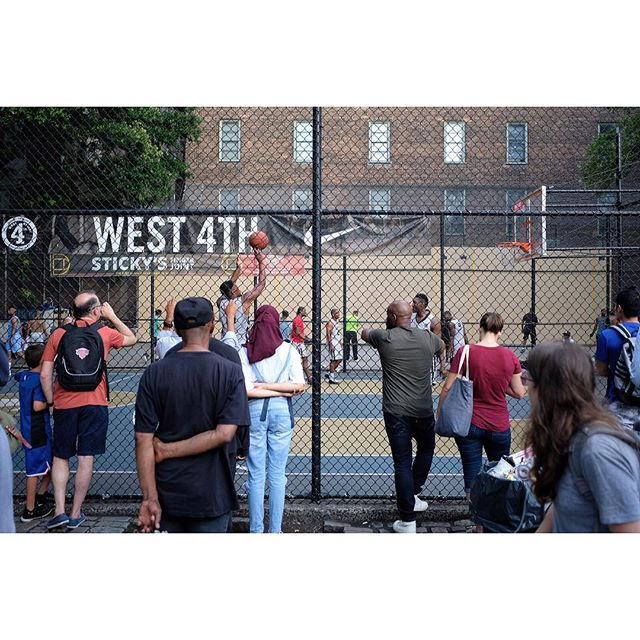 Basketball near Macdougal Street