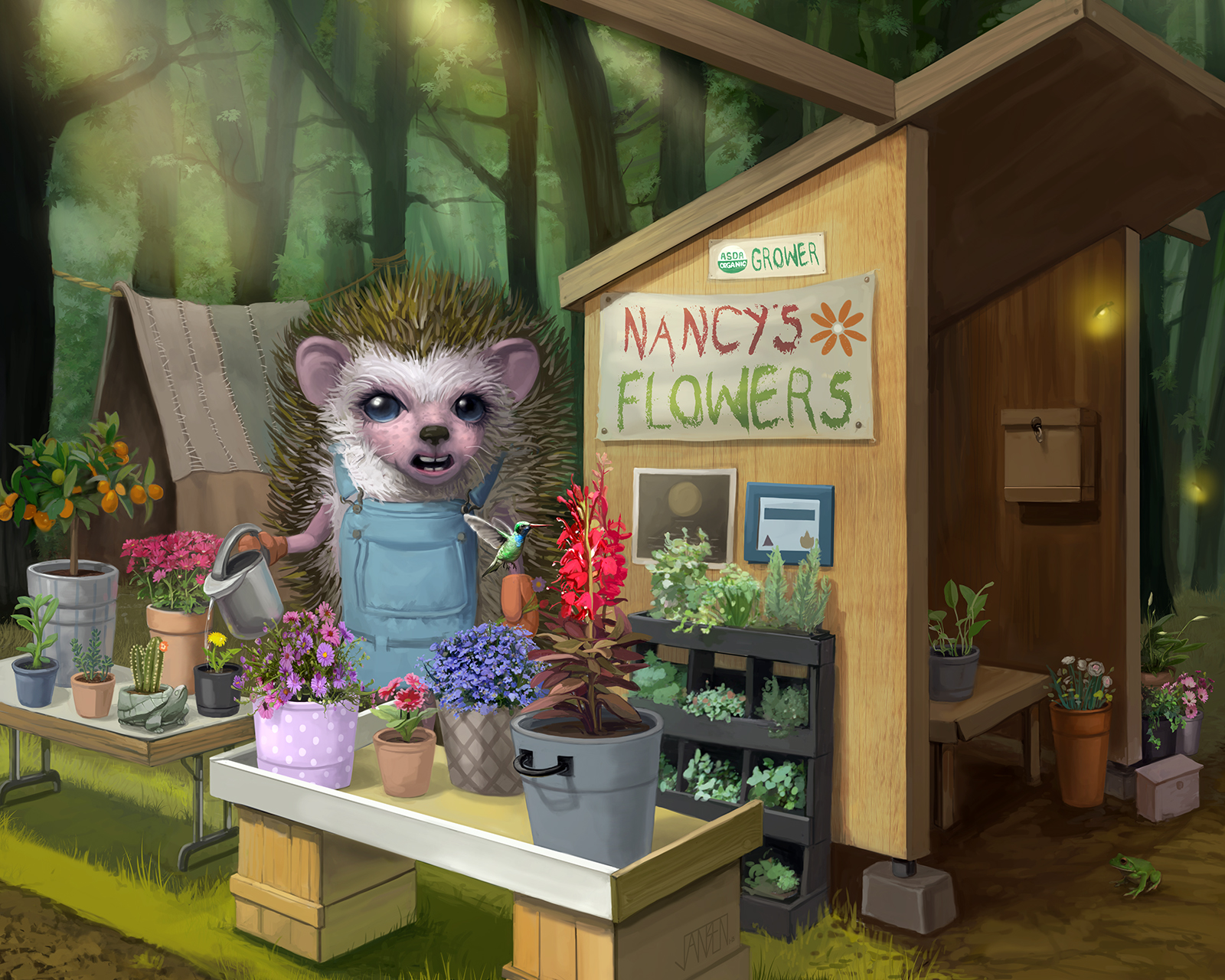 Hedgehog Florist