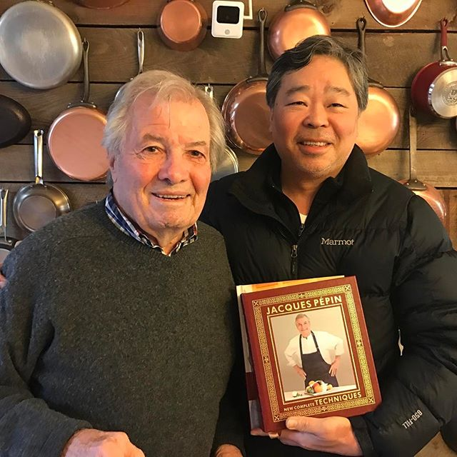 "Fabulous gift from the ""Great"" Chef Jacques Pepin.. #Americanmaster #Specialedition #newcompletetechniques 03/31/2017"